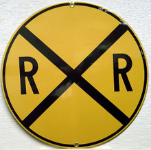 RR XING TRAIN PORCELAIN SIGN