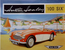 Photo of AUSTIN HEALY  RED & WHITE GREAT COLOR AND GRAPHICS