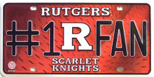 RUTGERS COLLEGE #1 FAN LICENSE PLATE