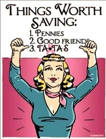 SAVE THE TATAS SIGN