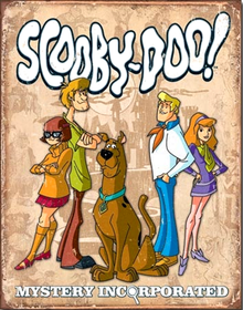SCOOBY DOO GANG RETRO SIGN