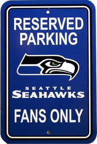 SEATTLE SEAHAWKS FOOTBALL FAN PARKING SIGN
