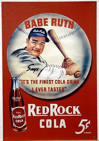 Photo of BABE RUTH RED ROCK COLA ADVERTISMENT SIGN