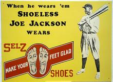 SHOELESS JOE JACKSON SHOES BASEBALL SIGN