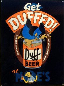 SIMPSON'S GET DUFFED ENAMEL SIGN