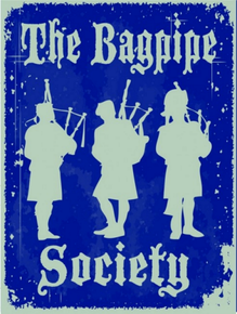 Photo of BAG PIPE SOCIETY SCOTISH ENAMEL SIGN, GREAT GIFT FOR THE SCOTTSMAN IN YOUR LIFE