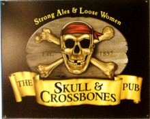 SKULL & CROSSBONES PUB SIGN