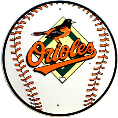 Photo of BALTIMORE ORIOLES ROUND BASEBALL SIGN