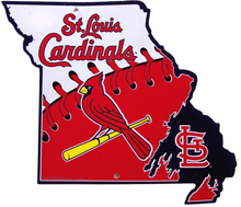 ST. LOUIS CARDINALS BASEBALL DIE CUT STATE SIGN