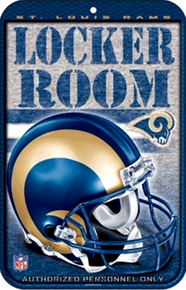 ST. LOUIS RAMS FOOTBALL LOCKER ROOM SIGN