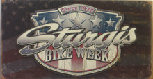 STURGIS WEATHERED SHIELD MOTORCYCLE SIGN