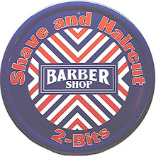 BARBERSHOP ROUND SIGN