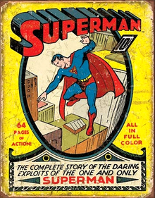 SUPERMAN NO. 1 COVER SUPER HERO SIGN