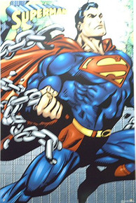 SUPERMAN UNCHAINED SUPER HERO SIGN