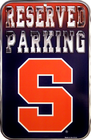 SYRACUSE PARKING COLLEGE SIGN