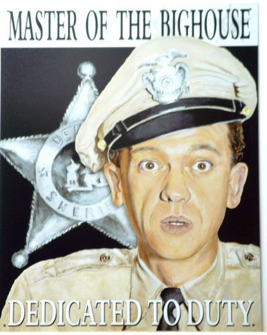Photo of BARNEY - MASTER OF THE BIG HOUSE SIGN WITH BARNEY FIFE