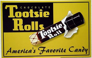 TOOTSIE ROLL AMERICA'S FAVORITE CANDY SIGN