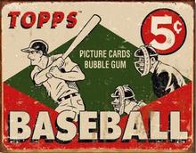 TOPPS BASEBALL CARD 1955 BOX TOP SIGN