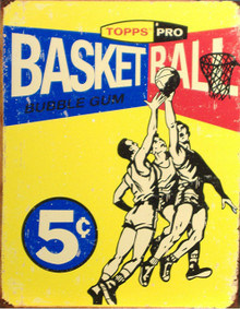 TOPPS 1957 BASKETBALL CARD BOX TOP SIGN