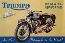 TRIUMPH  650 THUNDERBIRD MOTORCYCLE SIGN