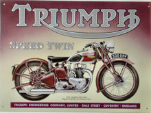 TRIUMPH SPEED TWIN MOTORCYCLE SIGN