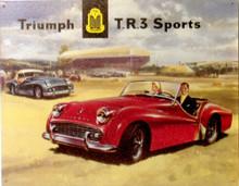 TRIUMPH TR3 CAR SIGN