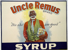 UNCLE REMUS SYRUP ETHNIC SIGN