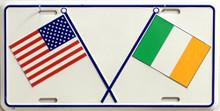 US & IRISH LICENSE PLATE