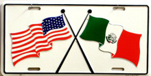 US & MEXICO LICENSE PLATE