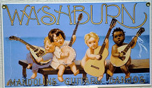 WASHBURN MUSICAL INSTUMENT STRINGS PORCELAIN SIGN