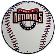 WASHINGTON NATIONALS ROUND BASEBALL SIGN