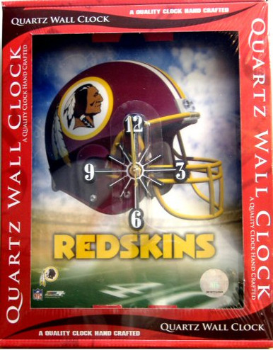 WASHINGTON REDSKINS FOOTBALL CLOCK