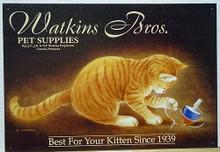 WATKINS BROS  CAT WITH TOP SIGN