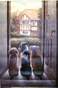 WELCOMING COMMITTEE OIL PAINTING