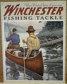 WINCHESTER FISHING EQUIMENT SIGN