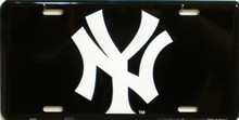 """METAL LICENSE PLATE Size: 11 3/4"""" w X 6"""" h WITH HOLE FOR EASY MOUNTING A GREAT ADDITION TO THE COLLECTION OF ANY YANKESS FAN"""