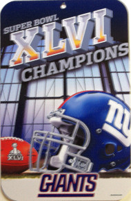 """HEAVY DUTY PLASTIC FOOTBALL SIGN,  10 3/4"""" w X 16 1/2"""" h  WITH HOLE(s) FOR EASY MOUNTING SUPER ADDITION TO ANY NEW YORK GIANTS FOOTBALL COLLECTION, GREAT COLOR AND GRAPHICS"""
