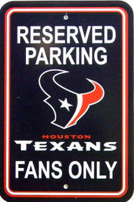 "HEAVY DUTY DURABLE PLASTIC FOOTBALL SIGN           10 3/4"" w X 16 1/2"" h COLORFUL, GREAT FOR THE HUSTON TEXAN FANS"