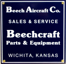 Photo of BEECH AIRCRAFT SIGN HAS GREAT CONTRAST AND RICH TONES