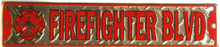 """METAL SIGN 24"""" X 5"""" WITH HOLES FOR EASY MOUNTING, GREAT FOR ANY FIREFIGHTERS COLLECTION, GREAT COLOR AND DETAILS"""