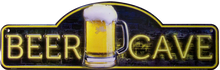 "METAL SIGN 18"" W X 5 1/2"" H WITH HOLES FOR EASY MOUNTING, COLORFUL, EMBOSSED METAL BEER SIGN GREAT FOR BARS, MAN CAVES ANY PLACE THE BEER LOVERS LIKE TO GATHER"