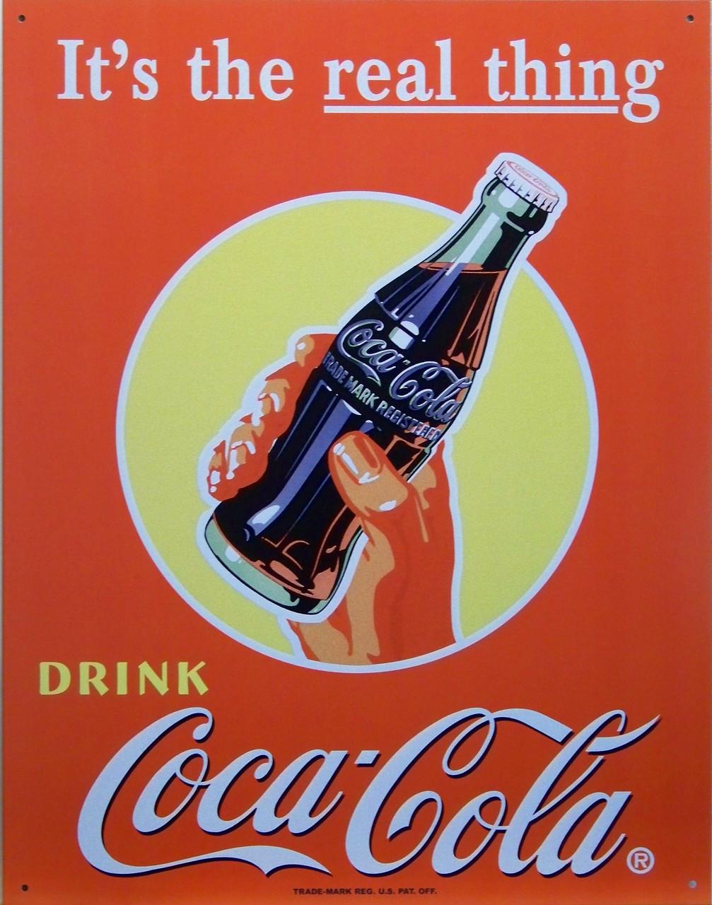 "Coke Sign Model-T 8/"" X 12/"" Metal Embossed"