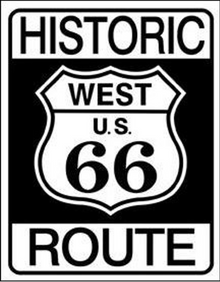 """METAL SIGNS 12 1/2"""" W X 16"""" H, WITH HOLES IN EACH CORNER FOR EASY MOUNTING  HISTORIC, ICONIC RT 66 SIGN, GREAT GRAPHICS AND DETAIL"""