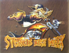 GREAT COLOR AND DETAIL IN THIS STURGIS METAL BOAR SIGN