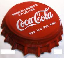 BEAUTIFULLY DETAILED, EMBOSSED, VINTAGE METAL COCA-COLA BOTTLE CAP