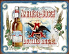 THIS ANHEUSER-BUSCH SIGN HAS EXCELLENT COLOR AND OVER THE TOP GRAPHICS TO MAKE IT A TRUE COLLECTIBLE