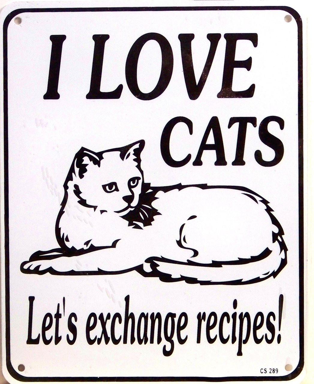 CAT RECIPES SIGN
