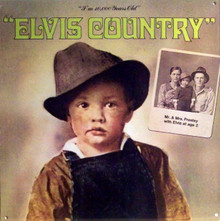 "A REPRODUCTION OF THE ALBUM COVER ""ELVIS COUNTRY"",  SHOWING A PICTURE OF ELVES AT 2 YEARS AND HIS PARENTS PICTURE IN THE BACKGROUND, GREAT COLOR AND DETAILS"