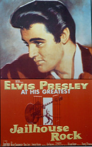 "A METAL SIGN REPRODUCED FROM THE MOVIE POSTER ""JAILHOUSE ROCK"" THIS SIGN IS OUT OF PRINT AND WE ONLY HAVE TWO LEFT."