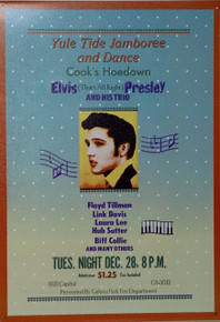 "A VERY YOUNG ELVIS POSTER FROM THE ""THAT'S ALLRIGHT"" ERA THIS SIGN IS OUT OF PRINT WE HAVE ONLY 3 LEFT."